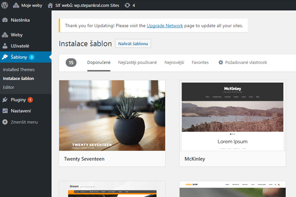 WordPress šablony